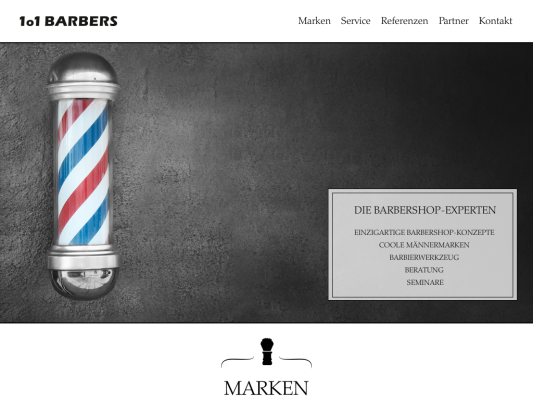 1o1BARBERS web design
