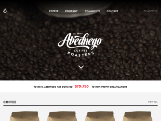 Abednego Coffee web design