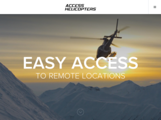 Access Helicopters web design