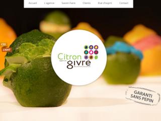 Agence Citron Givre web design