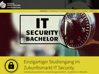 Alb-Sig University – IT-Security web design