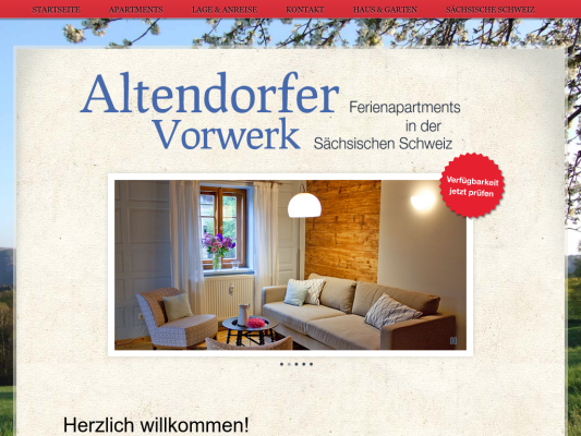 Altendorfer Vorwerk web design