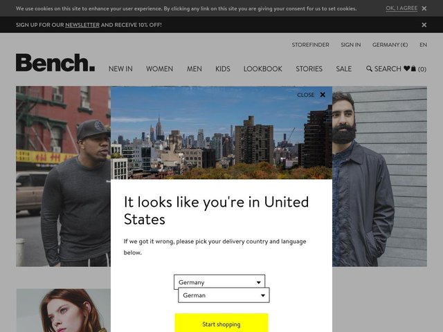 BENCH web design