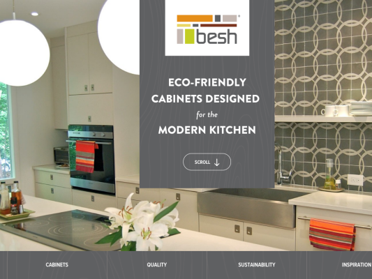 Besh Cabinets web design