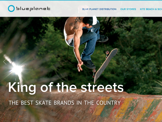 Blue Planet Distribution and Kite web design