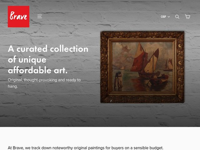 Brave Fine Art web design