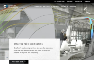 Creaform Engineering web design