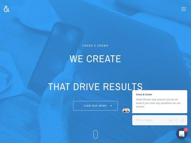Cross & Crown web design