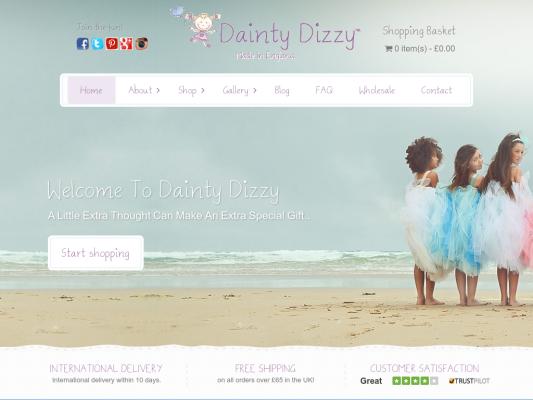 Dainty Dizzy web design