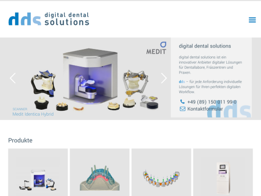 digital dental solutions web design