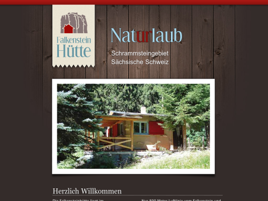 Falkensteinhütte web design