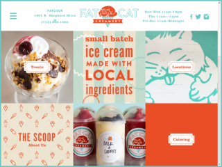 Fat Cat Creamery web design