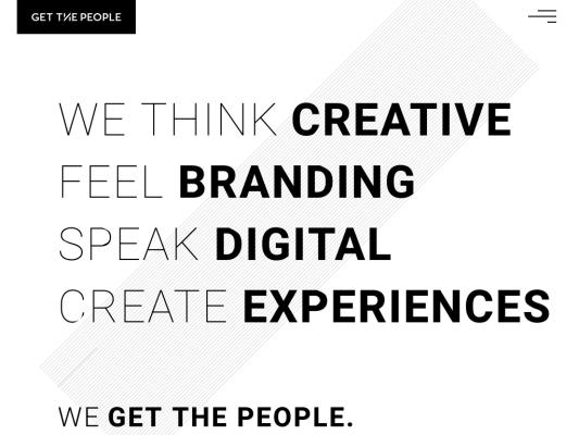Get The People web design