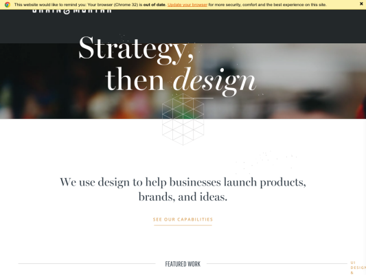 Grain & Mortar web design