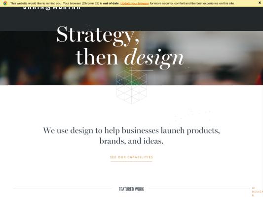 Grain & Mortar web design