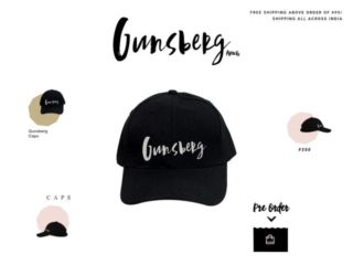 Gunsberg Merch web design