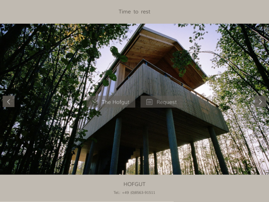 Hofgut web design