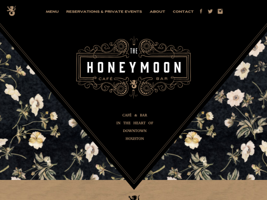 Honeymoon Café & Bar web design