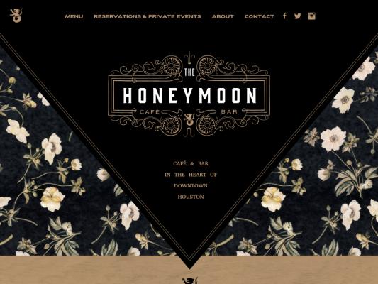 Honeymoon Café & Bar web design