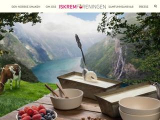 Iskremforeningen web design