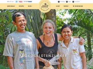 JANUR Kokosblütenzucker web design
