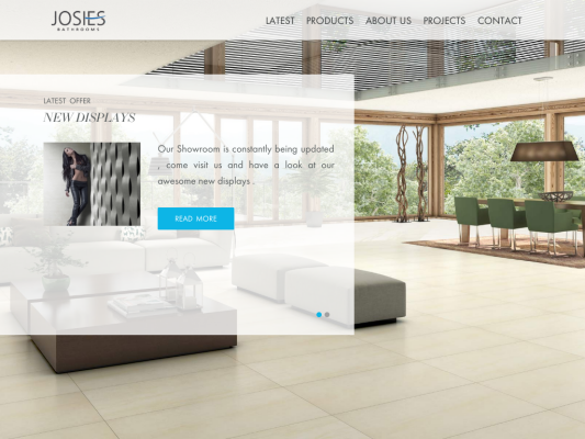 Josies Bathrooms web design