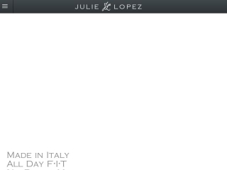 Julie Lopez Shoes web design