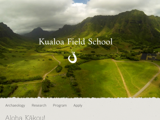 Kualoa Field School web design
