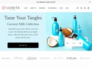 Luseta Beauty web design