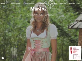 MarJo Trachten web design