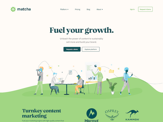 Matcha web design