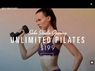 New York Pilates web design