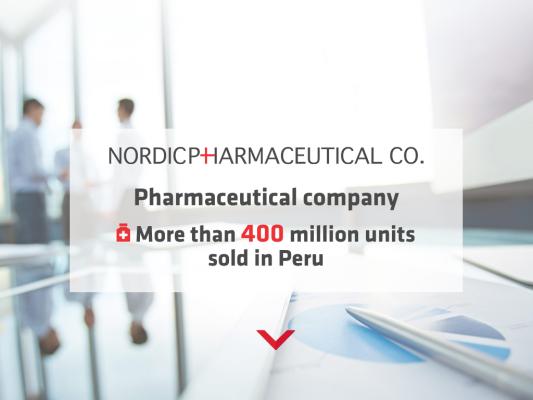 Nordic Pharmaceutical web design
