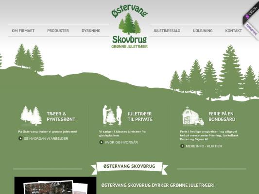 Oestervang Skovbrug web design