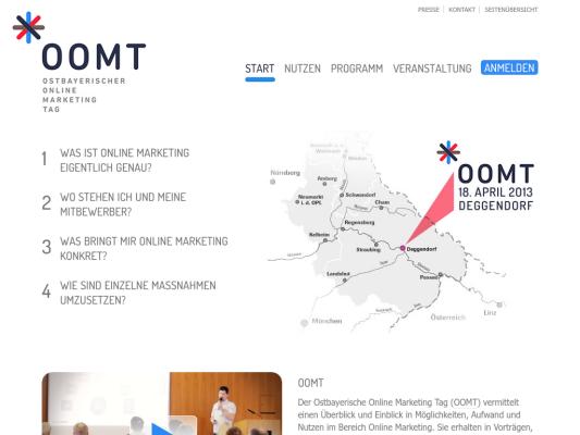 Ostbayerischer Online Marketing Tag web design