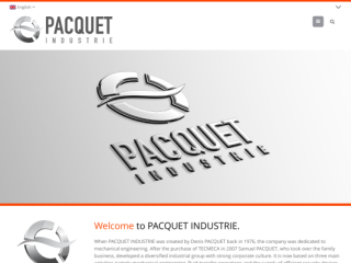 PACQUET INDUSTRIE web design