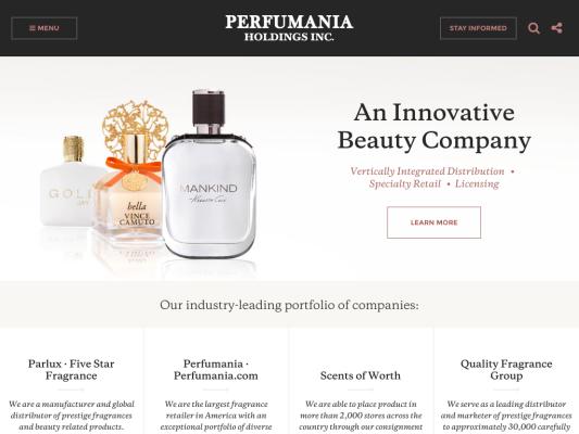 Perfumania Holdings web design