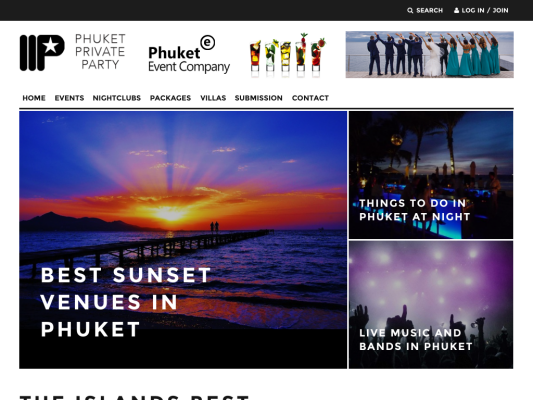 Phuket Private Party web design
