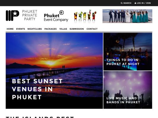 Phuket Private Party web design