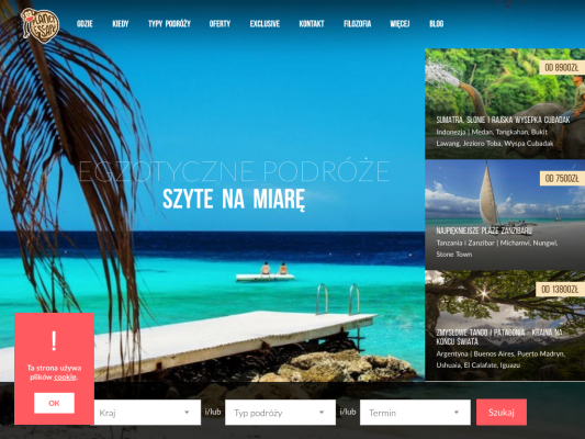 Planet Escape web design