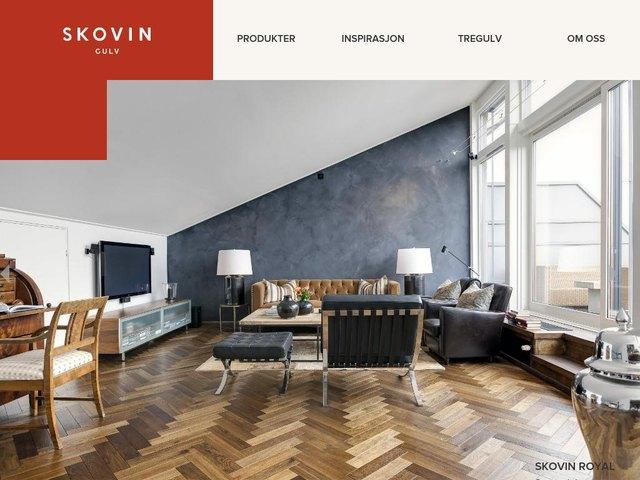 Skovin Gulv web design