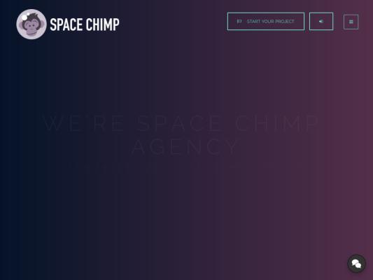 SpaceChimp.agency web design