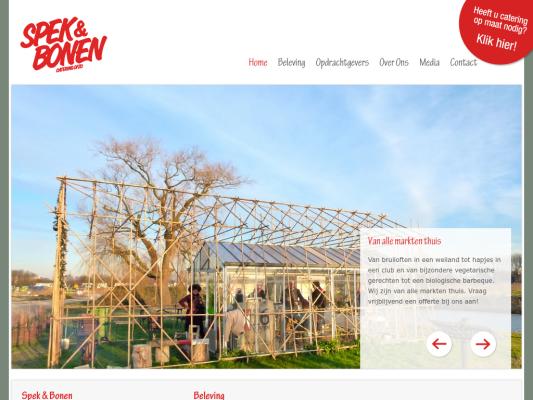 SPEK & BONEN web design
