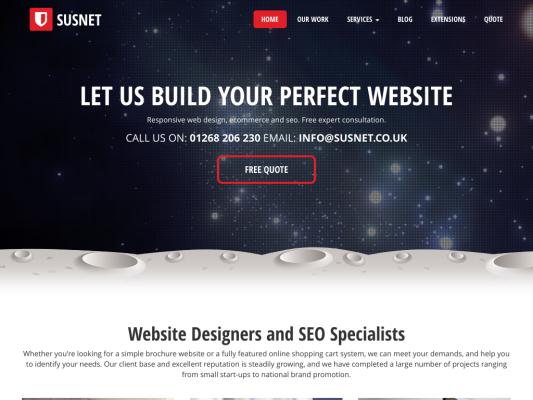 Susnet web design