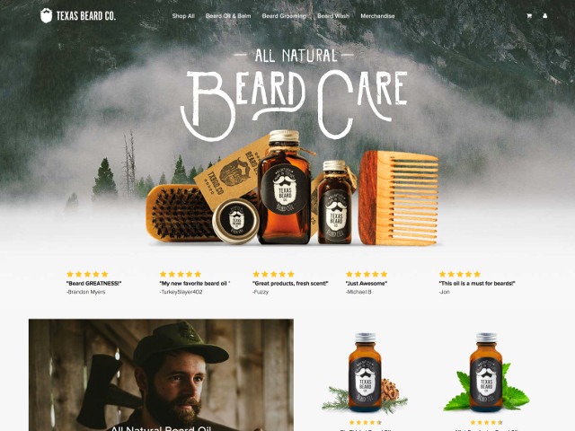 Texas Beard Company web design