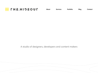 The Hideout web design