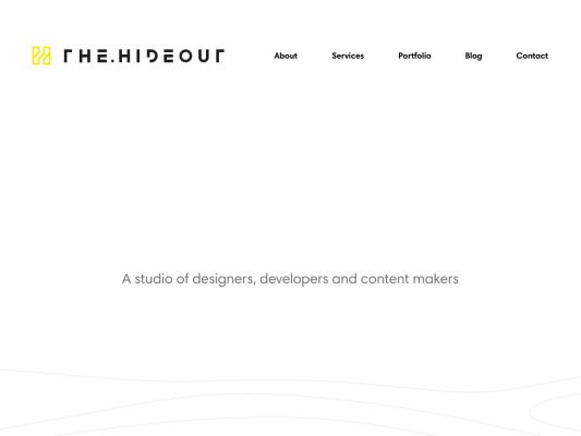 The Hideout web design