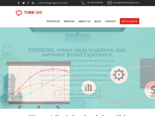 Think360 Studio web design