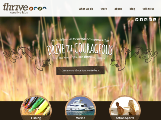 thrive creative labs web design