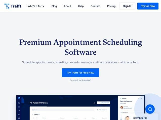 Trafft web design